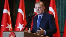 Der türkische Präsident Recep Tayyip Erdogan bei einer Rede am Montag inAnkara