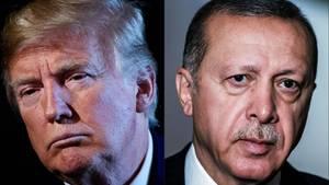 Newsticker: US-Präsident Donald Trump und der türkische Staatschef Recep Tayyip Erdogan