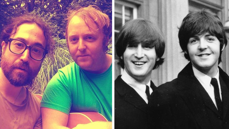 Bei Instagram - Selfie der Beatles-Söhne: So ähnlich sehen sie ihren Vätern