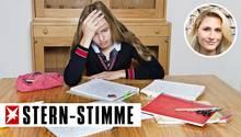 Ein Mädchen hat keine Lust zum Lernen