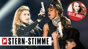 Einmal schlecken, bitte! Madonna provoziert.