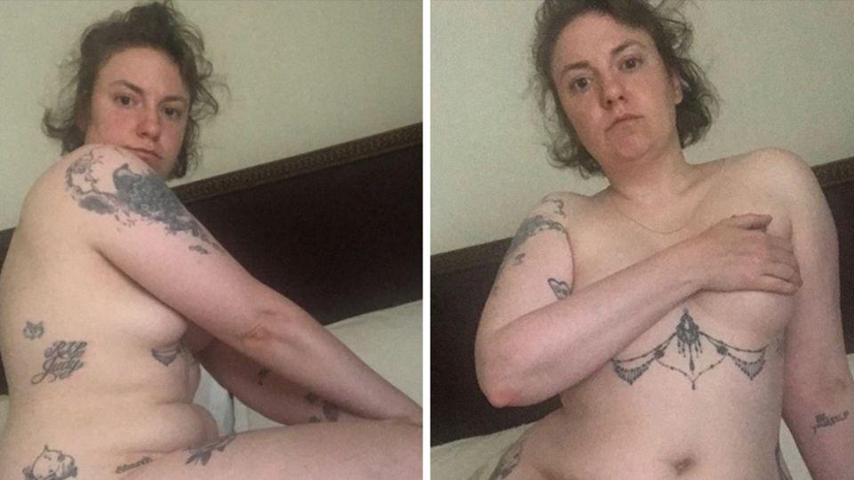 Nach Operation: Ein besonderer Monatstag: Lena Dunham postet Nacktbild