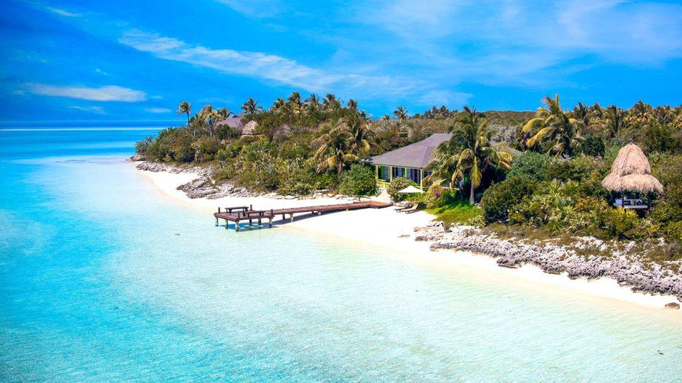 Auf den Bahamas: die Insel Musha Cay von US-Zauberkünstler David Copperfield.