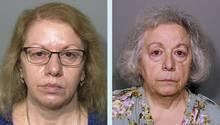 Die ehemaligen Cafeteria-MitarbeiterinnenJoanne Pascarell, links, und ihre SchwesterMarie Wilson wurden angeklagt, fast eine halbe MillionUS-Dollar (439.000 Euro) gestohlen zu haben