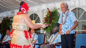Akilisi Pohiva, Premierminister von Tonga