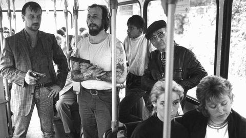 Ein historisches Foto von der Geiselnahme in Gladbeck vom 17. August 1988