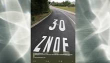 Diese Straßenbeschriftung in Pforzheim sorgte für ordentlich Häme im Netz