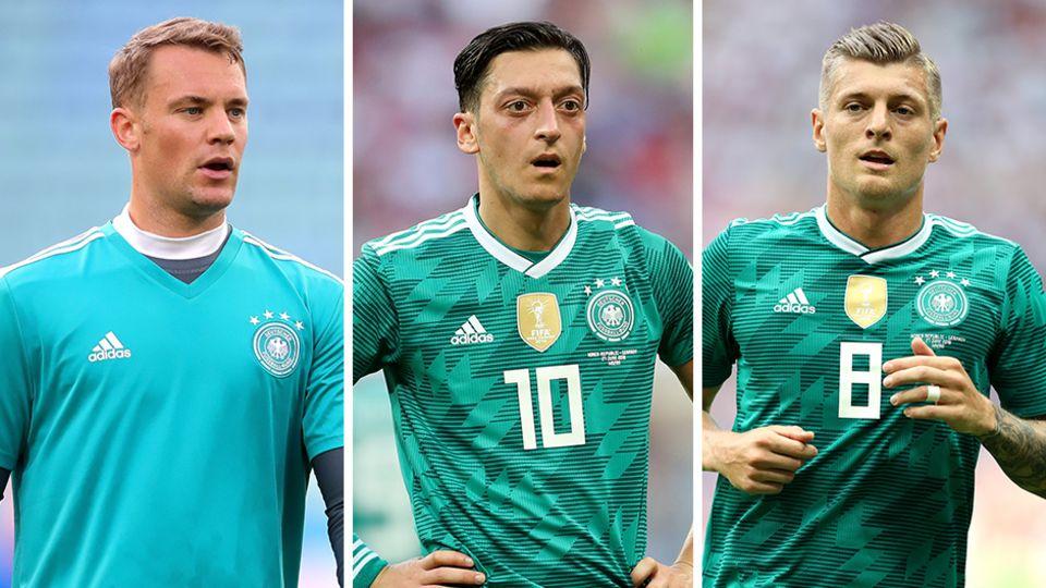 Nur lauwarmes Bedauern: Manuel Neuer, Mesut Özil und Toni Kroos