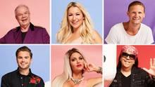 Eine Kollage zeigt die sechs Kandidatinnen und Kandidaten von Promi Big Brother: zwei Dreierreihen mit einer Frau in der Mitte