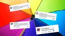 FB-Kommentare auf einem bunten Hintergrund