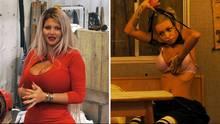 """""""Nicht viel auf den Rippen"""" hat """"Leder-Paula"""" alias Youtuberin Katja (re.), die schwangere Sophia Vegas kommt gar fastohne Rippen aus - Promi Big Brother nimmt Fahrt auf."""