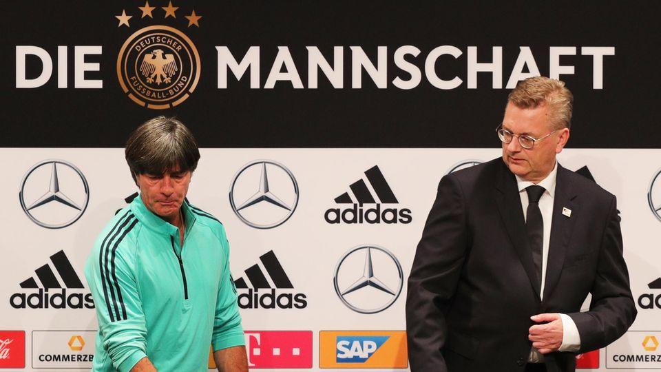 """DFB-Chef Reinhard Grindel gibt Fehler zu - Etikett """"Die Mannschaft"""" wird wohl abgeschafft"""