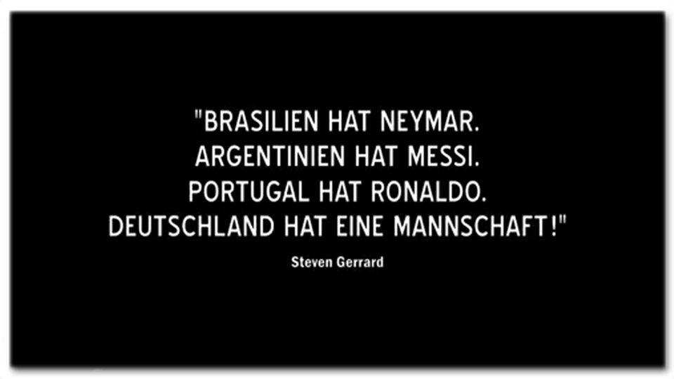 """Screenshot aus dem Trailer zum Film """"Die Mannschaft"""" mit dem vermeintlichen Gerrard-Zitat"""