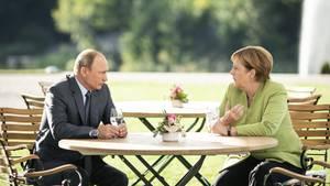 Wladimir Putin und Angela Merkel