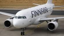 Ein Airbus von Finnair, der auf dem europäischen Streckennetz zumEinsatz kommt.