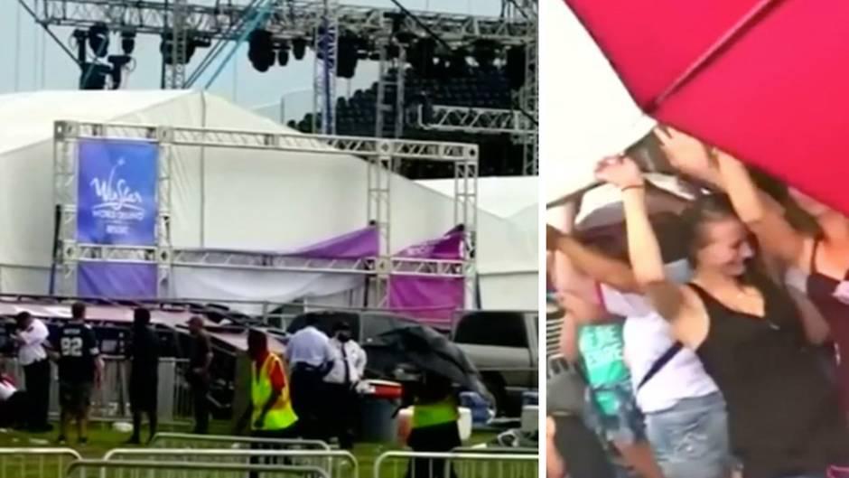 """Unwetterwarnung ignoriert: Metallkonstruktion stürzt auf mehrere Menschen vor """"Backstreet Boys""""-Konzert"""