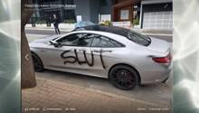 Demoliertes Auto in Australien