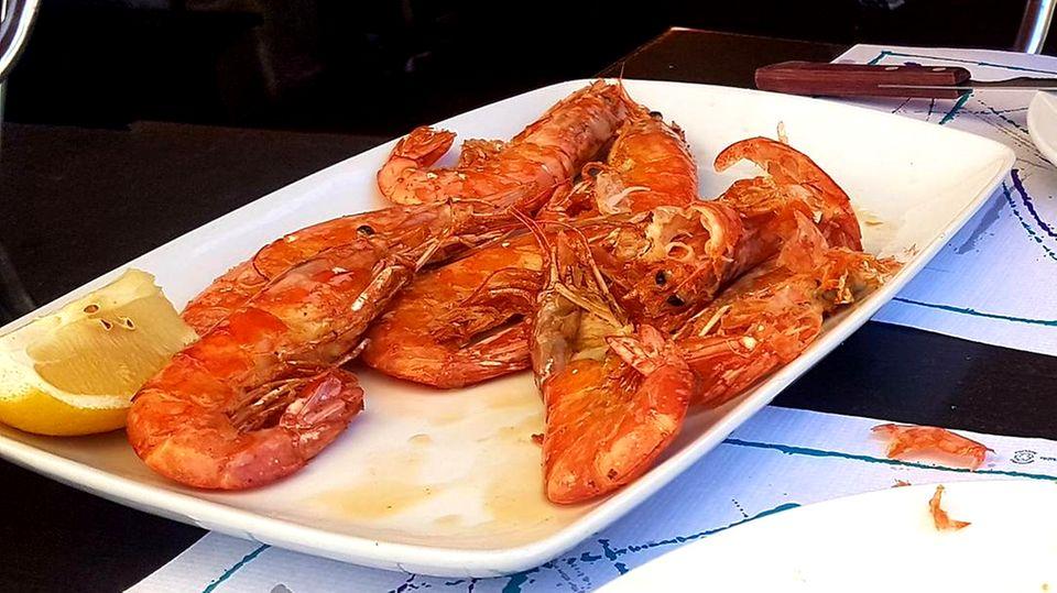 Meeresfrüchte zum Mittag