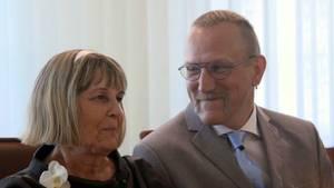 Thomas und Karin Rüß kurz nach ihrer Trauung.