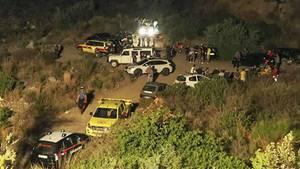 Sturzflut in der Raganello-Schlucht in Kalabrien - Suche nach Vermissten während der Nacht