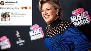 Kelly Clarkson gratulierte Kiana und Amanda Clark via Twitter zu ihrer Hochzeit