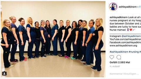 Die 16 schwangeren Krankenschwestern aus Arizona