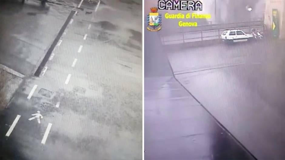 Genua: Neue Videos zeigen Moment des Brückeneinsturzes