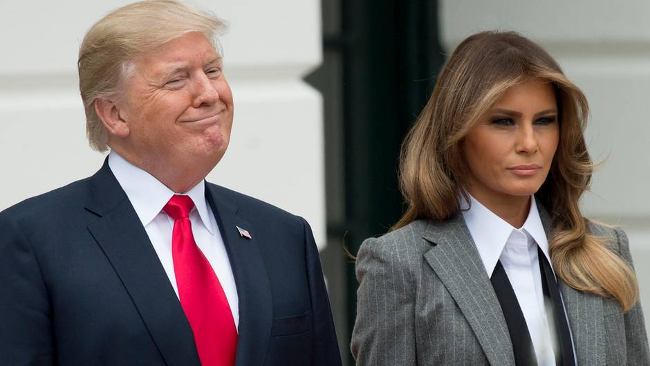 Donald Trump pöbelt öfters auf Twitter herum - seine Ehefrau Melania eher weniger
