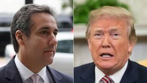 Anwalt Michael Cohen (l.) und US-Präsident Donald Trump