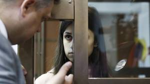 Russland: AngelinaChatschaturjan während der Anhörung vor dem Moskauer Stadtgericht