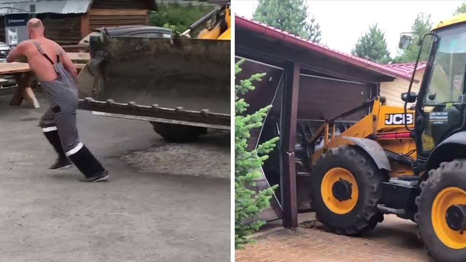 Russland: Streit eskaliert völlig: Wenn der Nachbar den Radlader holt