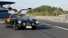 """Eines der letzten Fotos: Der Mercedes 300 SL """"California Outlaw"""" von 1955 am Nürburgring"""