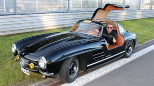 "Aus dem Privatarchiv: Thomas Rosier in seinem Mercedes 300 SL ""California Outlaw"" von 1955 am Nürburgring"