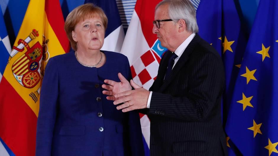Angela Merkel wünscht sich als Nachfolger für EU-Chef Juncker einen Deutschen