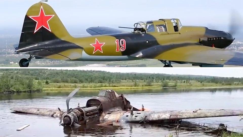 """""""Fliegender Panzer"""": Historisches Kampfflugzeug Iljuschin Il-2 aus See geborgen"""