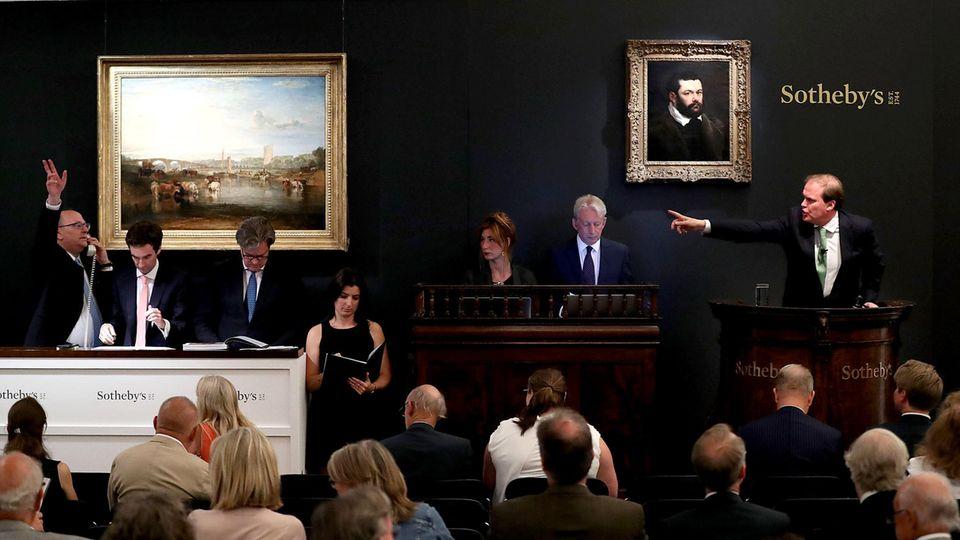 Eine Kunstauktion bei Sotheby's