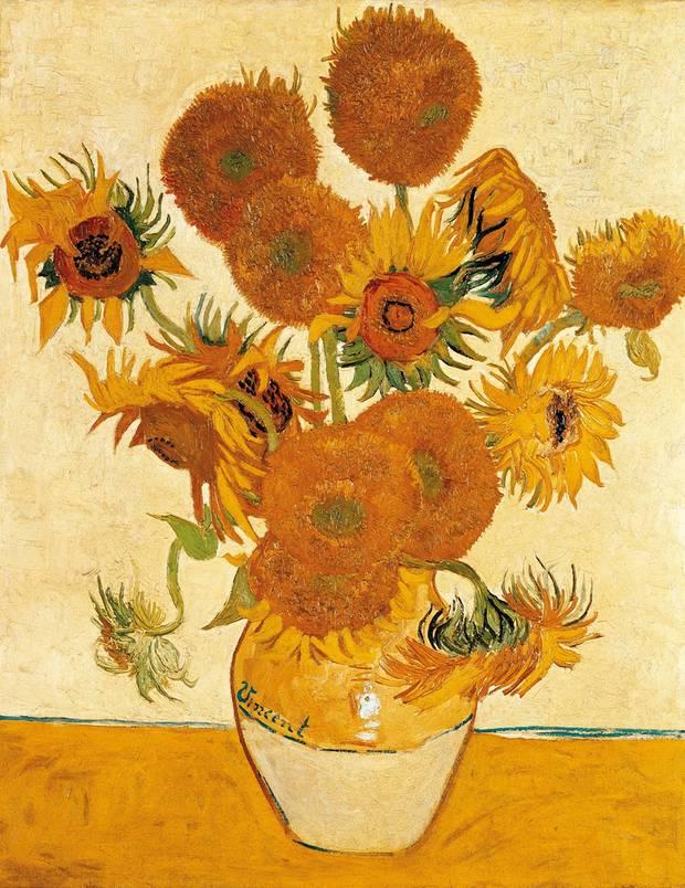 """""""Fünfzehn Sonnenblumen in einer Vase"""" von Vincent van Gogh"""