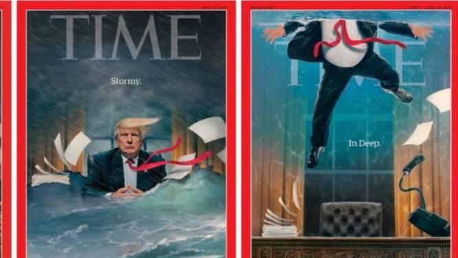 """Heft-Cover: """"Time""""-Magazin zeigt: Donald Trump steht das Wasser bis zum Hals"""