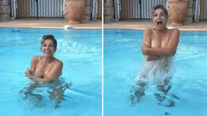 Liz Hurley zeigt sich sexy im Pool - und warum sie ihren Sohn damit verlegen macht