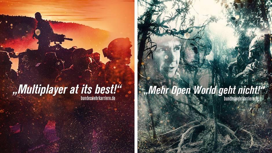 Werbung auf Spielemesse: Bundeswehr der beste Ego-Shooter? Sprecher reagiert auf umstrittene Gamescom-Plakate