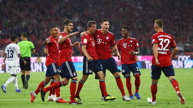 Thomas Müller erzielt das erste Tor der neuen Bundesliga-Saison
