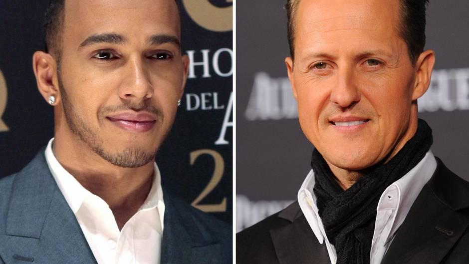"""Keep fioghting, Michael"": Lewis Hamilton twitterte warme Worte an Michael Schumacher"