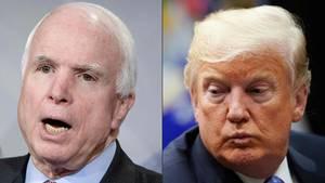 John McCain und Donald Trump