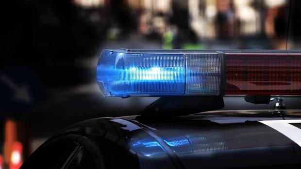 Blaulicht eines US-Polizeiwagens
