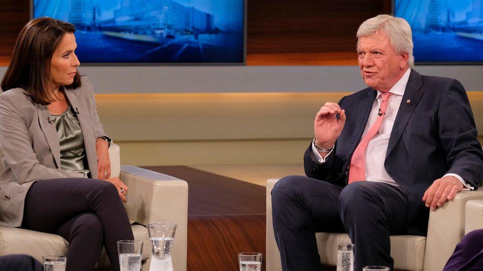 Anne Will und Volker Bouffier diskutieren über ein Einwanderungsgesetz