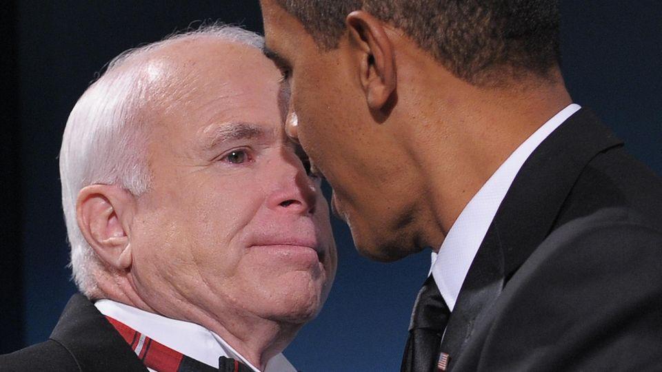 John McCain und Barack Obama, hier bei einerparteiübergreifenden Veranstaltung im Januar 2009 in Washington