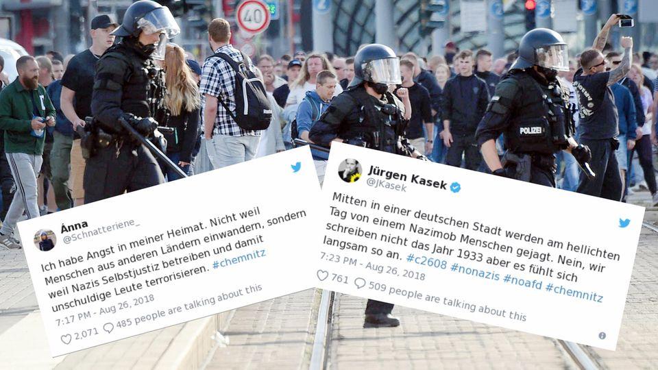 So entsetzt reagieren die Menschen auf die Proteste in Chemnitz.