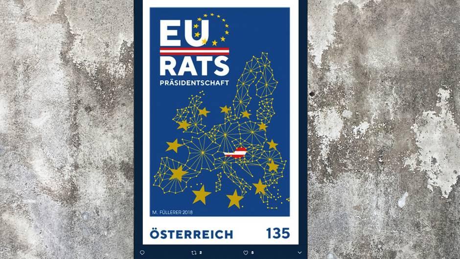 So sieht die neue Sammlerbriefmarke der österreichischen Post aus