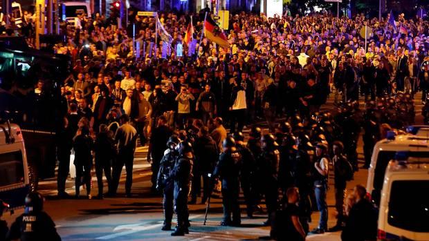 Protest in Chemnitz