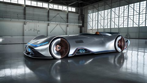 Der Mercedes EQ Silver Arrow hat 550 kW / 750 PS